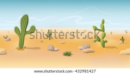 seamless wild west desert