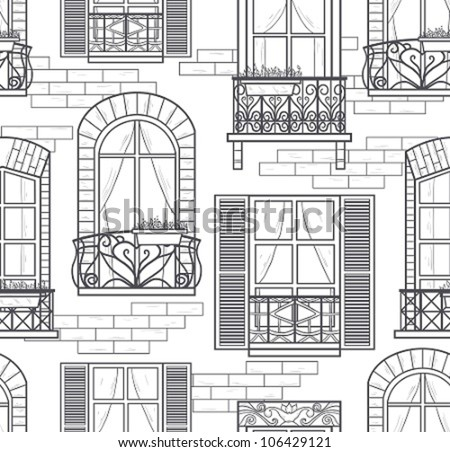 seamless windows seamless pattern  sc 1 st  Vecteezy & Window Drawings - Download Free Vector Art Stock Graphics u0026 Images