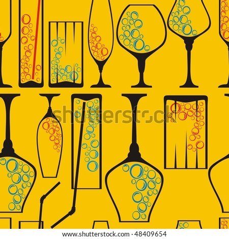 Seamless wineglass background