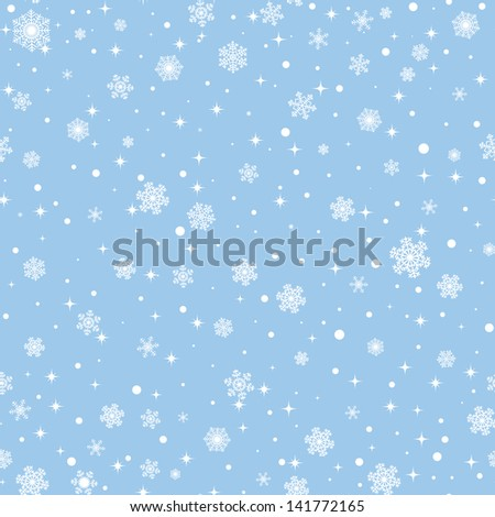 seamless winter background with