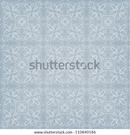 seamless winter lace pattern