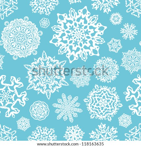 Seamless winter pattern. Christmas background.