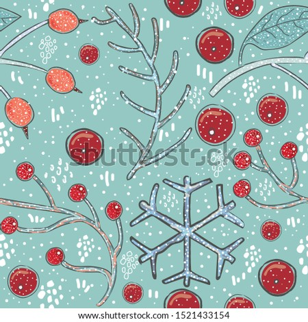 seamless winter pattern merry