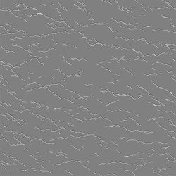 Seamless wrinkled pattern, stylish vector imitation of a flat neutral gray leather with a thin ragged furrows. Useful like a high pass filter for applying an ersatz leather effect to any surface.