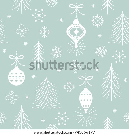 seamless xmas pattern one color