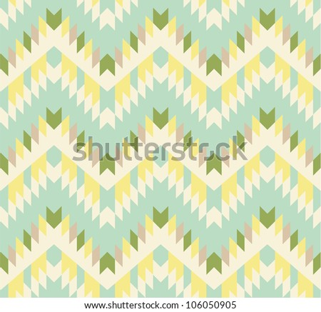 Seamless zigzag background in pastel tints