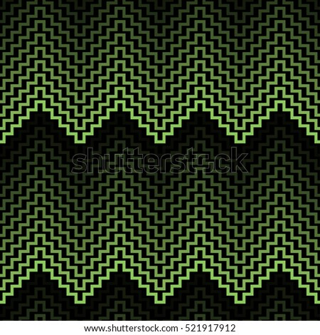 seamless zigzag pattern green