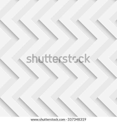 Seamless ZigZag Pattern. Vector Soft Background. Regular White Texture