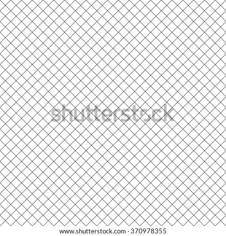 Seamlessly repeatable geometric cellular pattern. Abstract grid, mesh monochrome background. stock photo