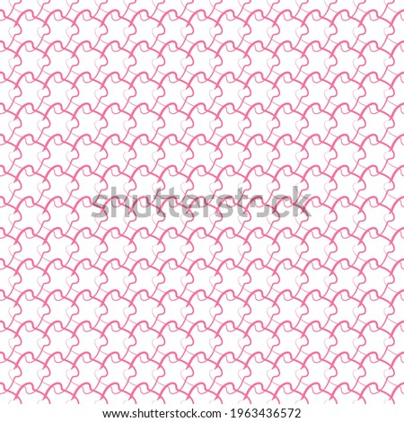 Seamlessly repeatable shapes pattern, background, and texture. Vector stock photo