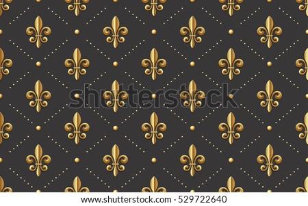 seamlessly tiling golden fleur