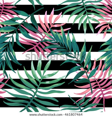 seanless pattern of tropical