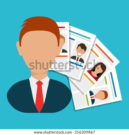 Search and find employment graphic theme design, vector illustration
