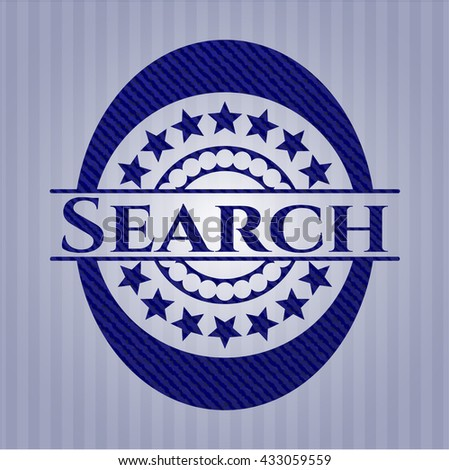 Search badge with jean texture