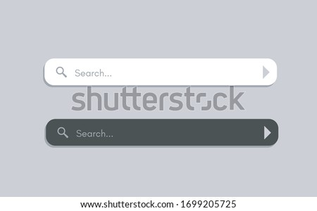 Search Bar for ui. Mockup design for apps and web site. Search Address and navigation bar icon. Collection of search form templates for websites