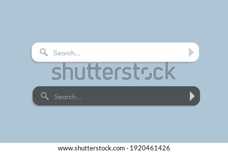 Search bar. Searching internet field, website ui bars with shadows and empty online search engine box with button vector computer address symbol of text web form templates