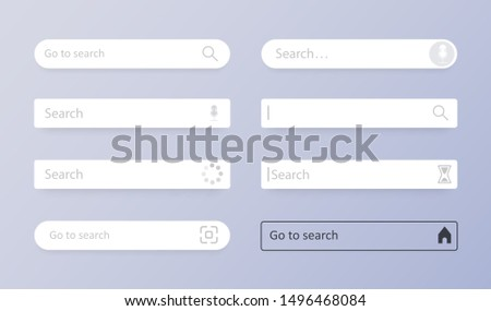 Search bar. Set Search bar vector element design, set of search boxes ui template isolated on gray background. Search Address and navigation bar icon. Vector illustration