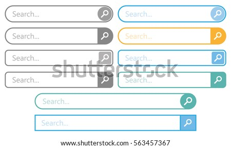 Search bar. Template isolated