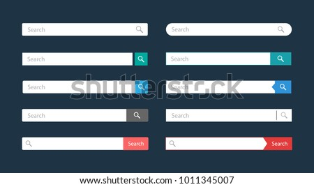 Search bar vector element design templates set