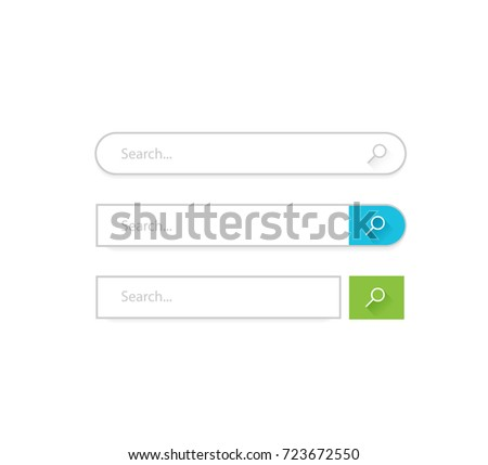 Search bar vector template for internet searching design.