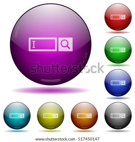 search box color glass sphere