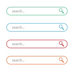 search browser icon logo vector illustration flat design