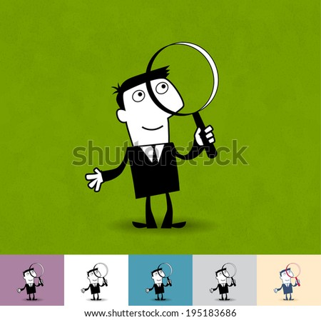 search business illustration