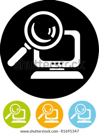 Search computer vector icon
