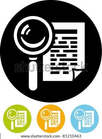 Search document icon (Vector)