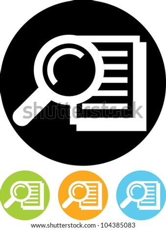 Search document - Vector icon isolated