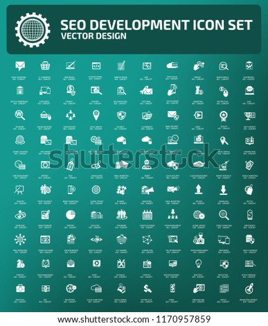Search engine optimisation vector icon set