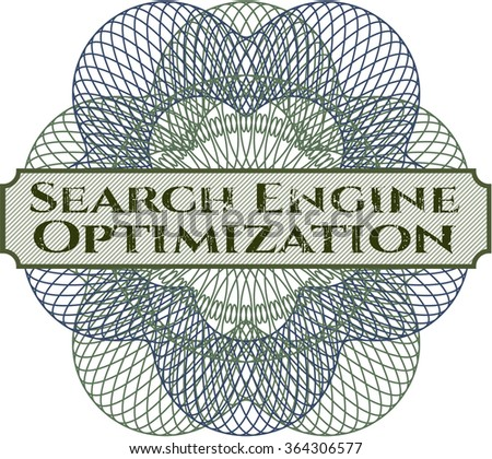 Search Engine Optimization abstract linear rosette