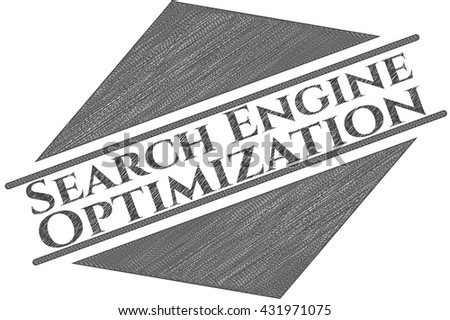 Search Engine Optimization draw with pencil effect
