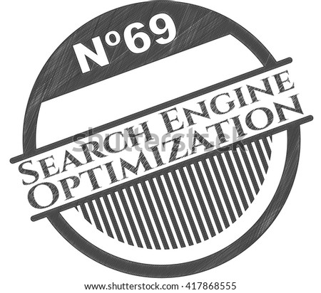 Search Engine Optimization drawn with pencil strokes