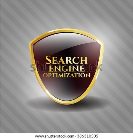 Search Engine Optimization gold emblem or badge