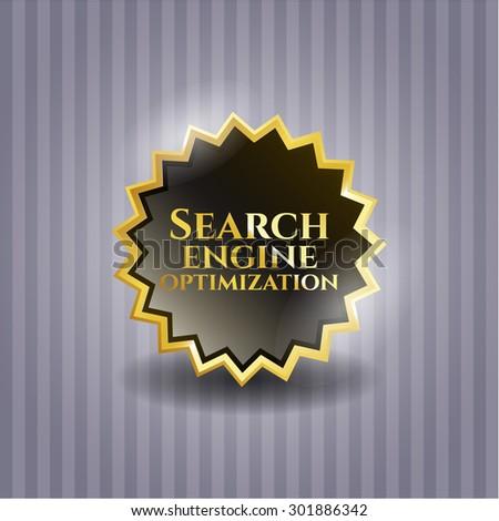 Search Engine Optimization gold shiny emblem
