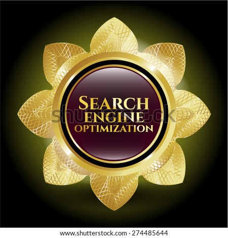 Search engine optimization gold shiny flower