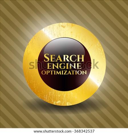 Search Engine Optimization golden badge