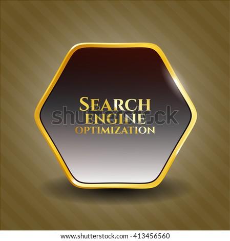 Search Engine Optimization golden emblem
