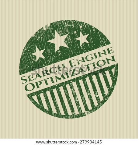 Search Engine Optimization green rubber stamp