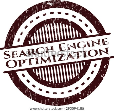 Search Engine Optimization grunge seal
