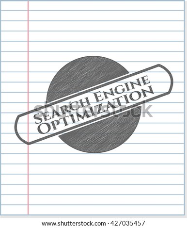 Search Engine Optimization pencil draw