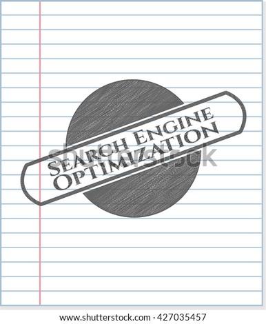 Search Engine Optimization pencil draw