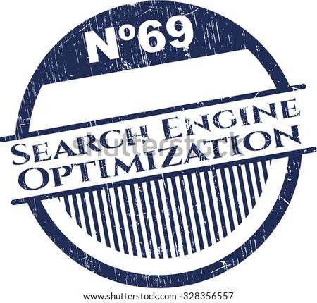 Search Engine Optimization rubber grunge seal