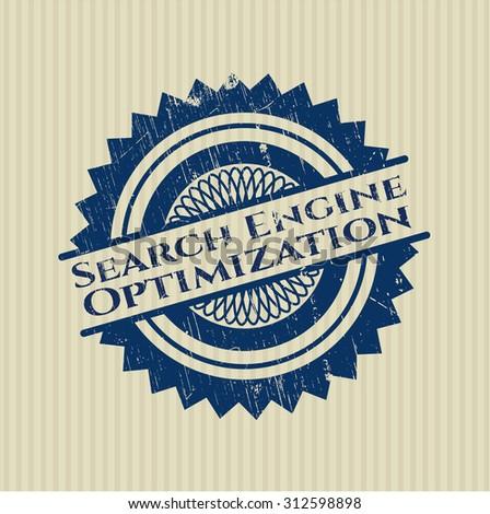 Search Engine Optimization rubber grunge stamp