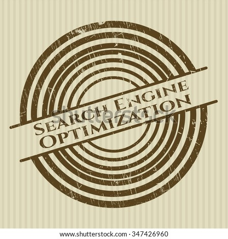 Search Engine Optimization rubber grunge texture seal