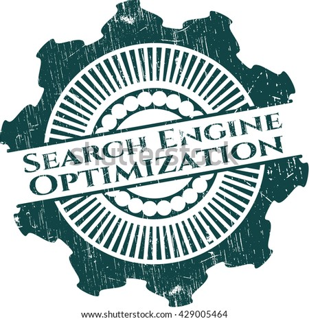 Search Engine Optimization rubber seal with grunge texture