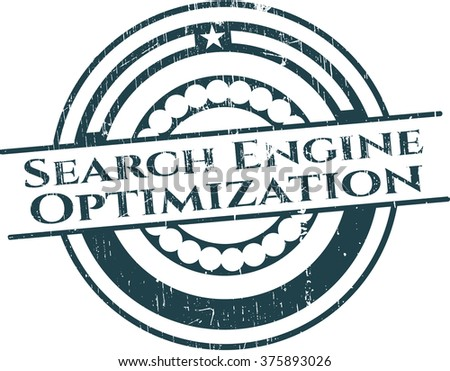 Search Engine Optimization rubber stamp with grunge texture