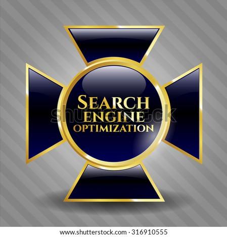 Search Engine Optimization shiny badge