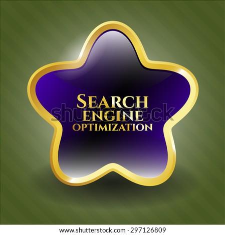 Search Engine Optimization shiny emblem